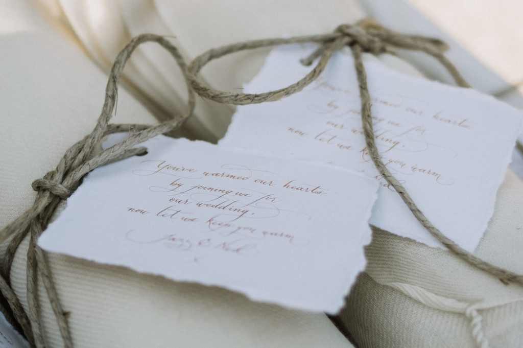 Gift tags in handmade paper