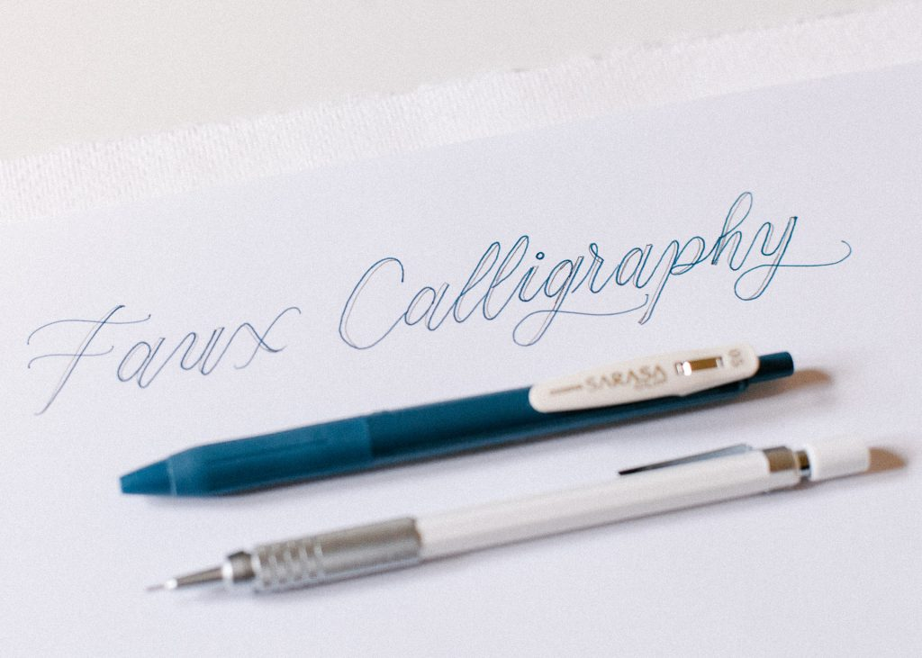 Faux Calligraphy For Beginners - Small Brown Writes
